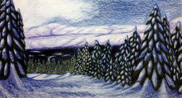 «Суровая северная зима» (графика)
